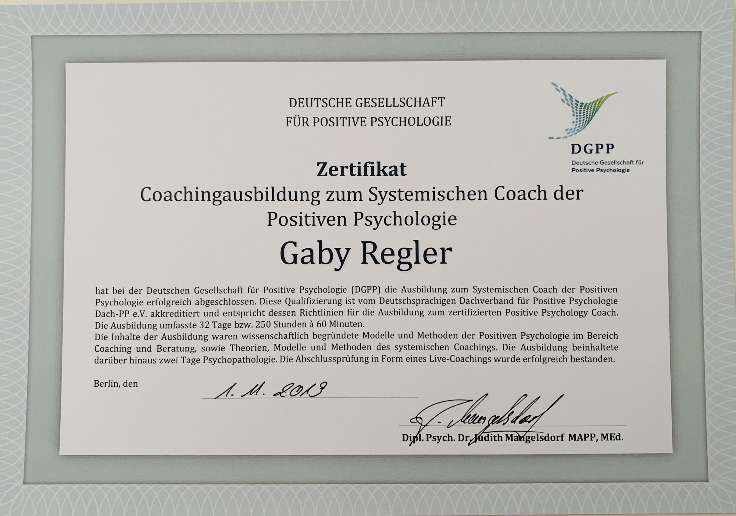 Coach der Positiven Psychologie, Systemischer Coach der Positiven Psychologie