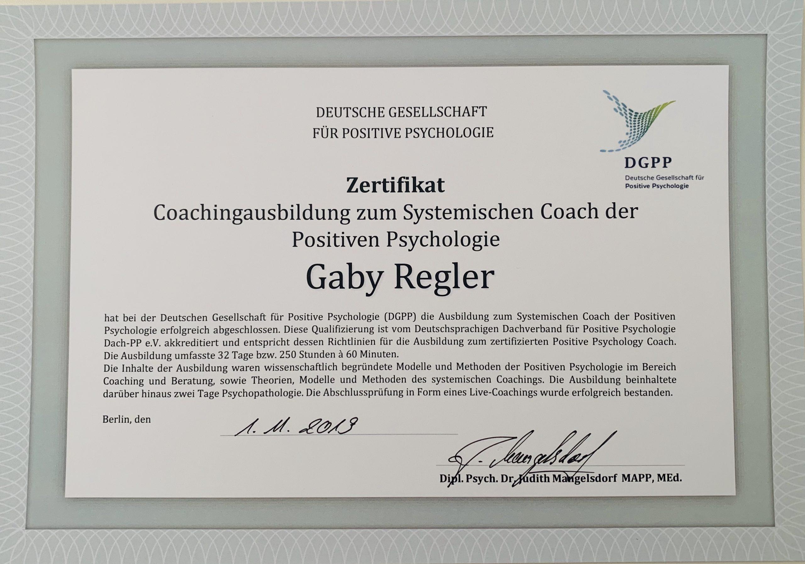 Coach der Positiven Psychologie, Systemischer Coach der Positiven Psychologie